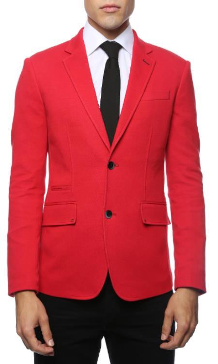 Men's Red Blazer - Red Sport Coat