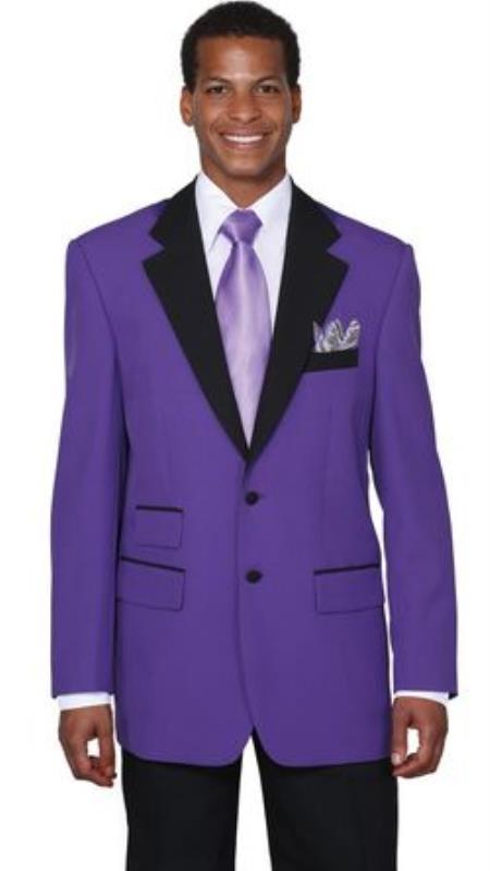 Men's Two Button Colorful Tuxedo Purple Jacket