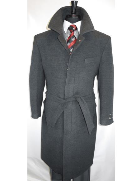 Men's Dress OverCoat Grey