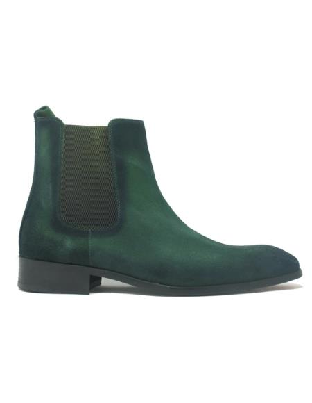 Men's KB886-17 Buckle Leather Strap Boots