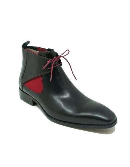 Men's KB503-13 Calfskin Lace-up Chukka Boots