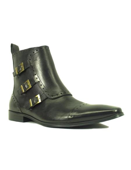 Men's KB8018-16 Monk Strap Zip Boots