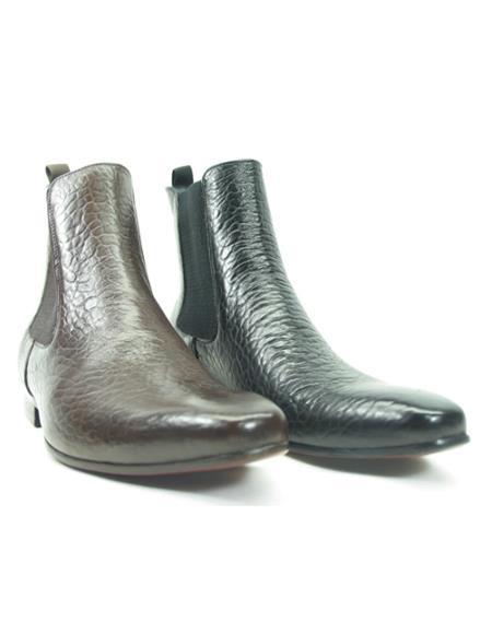Men's KB1377-05E Textured Chelsea Boots