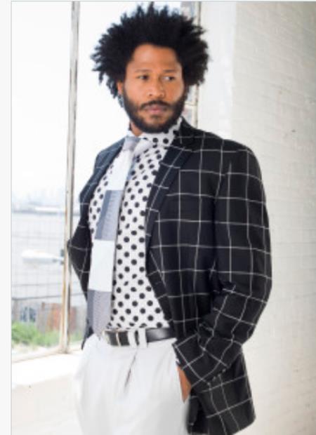 Men's Blazer - Plaid Sport Coat