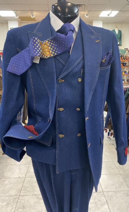 Denim Suit - Blue Suit