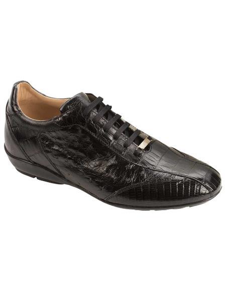 Men's Mezlan Soft Italian Calfskin Linings Shoes Black