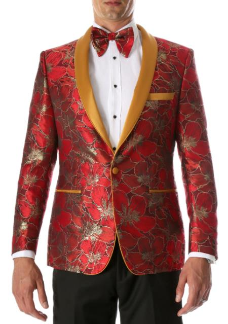 Red and Gold Tuxedo - Red and Gold Blazer