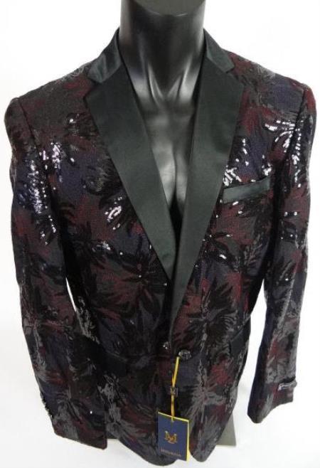 Burgundy and Black Tuxedo - Maroon Blazer - Wiene Tuxedo