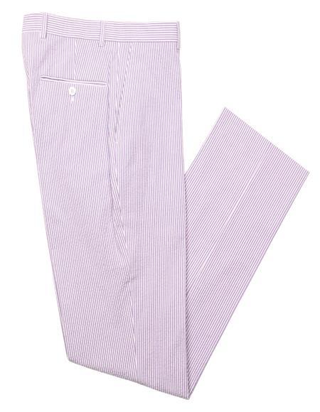 Mens Seersucker Pant Purple