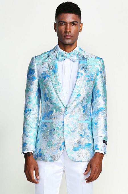 Baby Blue Tuxedo - Sky Blue Dinner Jacket