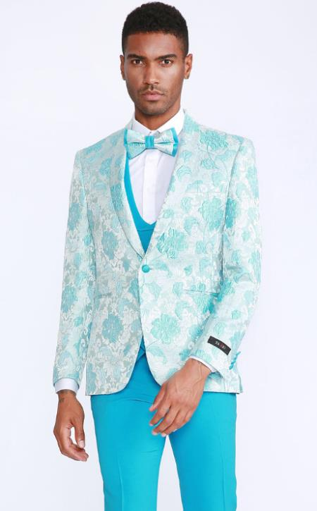 Baby Blue Tuxedo - Sky Blue Dinner Jacket
