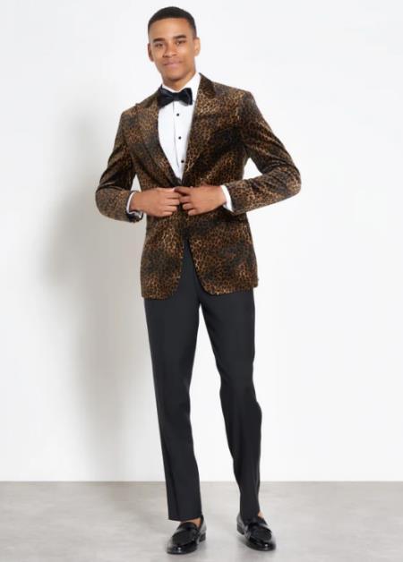 Leopard Velvet Jacket Tuxedo