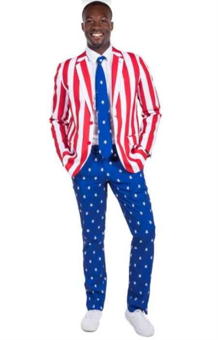 American Flag Suit Jacket