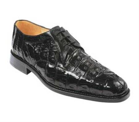 SKU#XU733 Belvedere Susa - Black Crocodile ~ Alligator  $489
