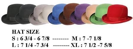 SKU#MDBH1 Any Color Derby Hat Very Soft and Silky Sovereign Quality Finish 100%Wool