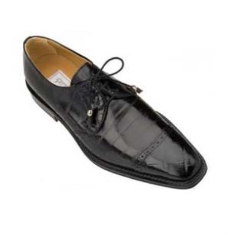 SKU#BU451 Ferrini Black Genuine Alligator/Eel Shoes $769