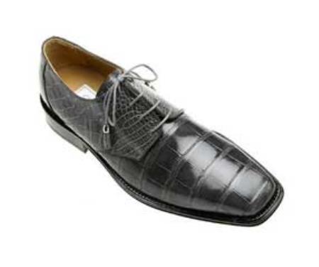 SKU#GR845 Ferrini All-Over Genuine Alligator Shoes Black $819