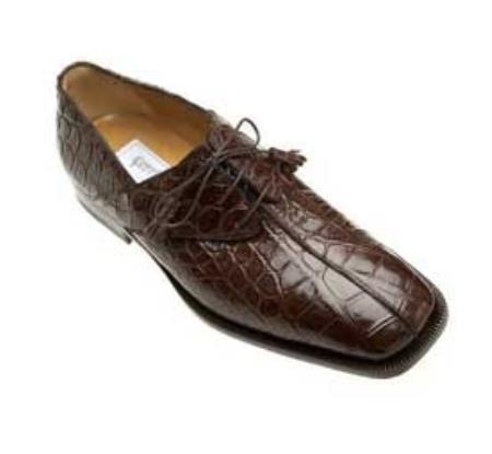 SKU#UG848 Ferrini Chocolate All-Over Genuine Alligator Shoes $869
