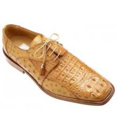 SKU#YV280 Ferrini Copper~Rust~Cognac Genuine Crocodile ~ Alligator /Ostrich Shoes $869