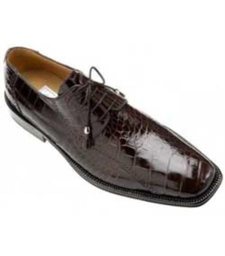 SKU#UM932 Ferrini All-Over Genuine Alligator Shoes Black Cherry $819