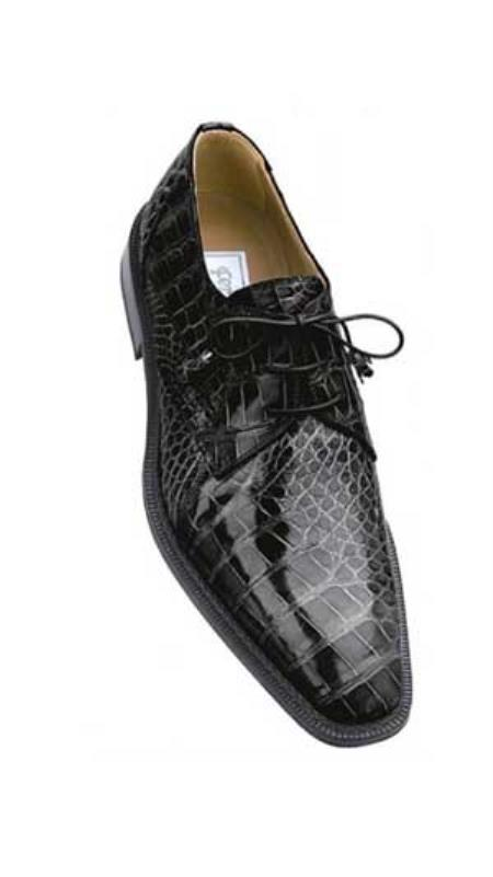 SKU#XY839 Ferrini Grey All-Over Genuine Alligator Shoes $819