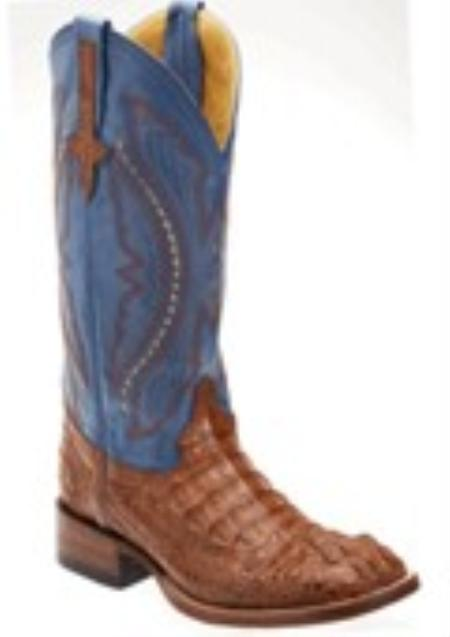 SKU#CC8239 caiman ~ alligator Crocodile Copper~Rust~Cognac S Toe $324