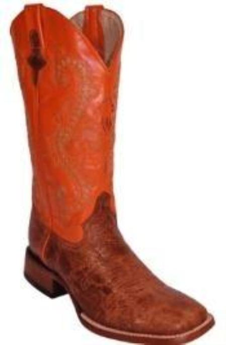 SKU#FS8567 Distress Cowhide Copper~Rust~Cognac/Orange - S Toe