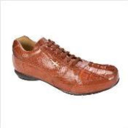 SKU#EF8689 Belvedere Cresta Sneaker in Copper~Rust~Cognac $206