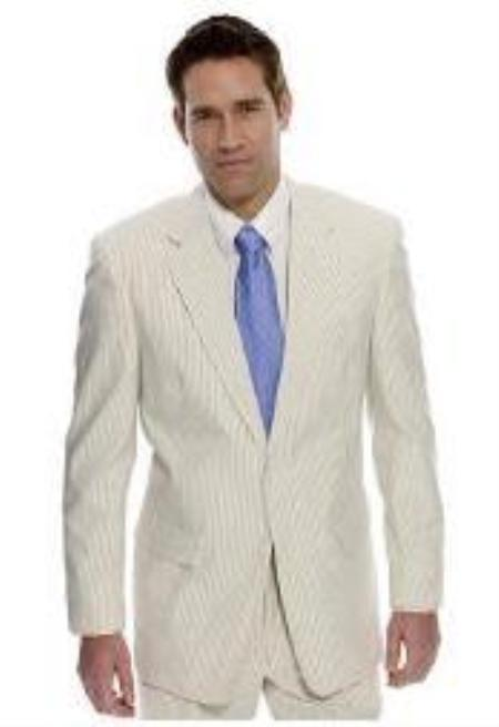SKU#VU9911 Right Off The Runway seersucker 2 buttoned suit Available in Mens and Boys size $149