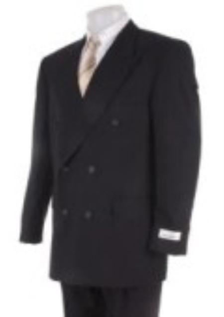 SKU#GX64903 Mens Black Linen Slim-Fit Suit $175