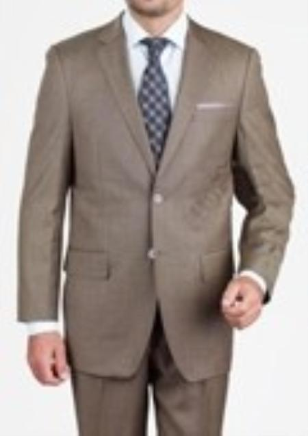 SKU#EJM1972 Mens Taupe Suit $175