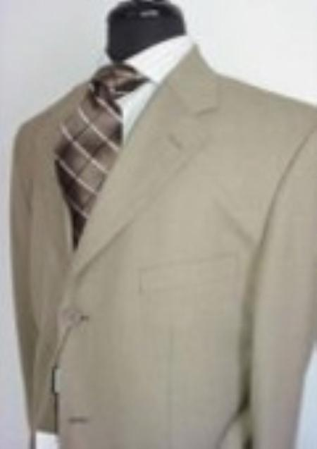 SKU#CV7632 Mens Tan Stripe Suit $139