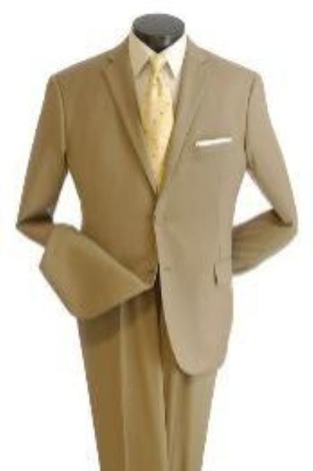 SKU#DV6678 Mens True Slim affordable suit online sale - Khaki