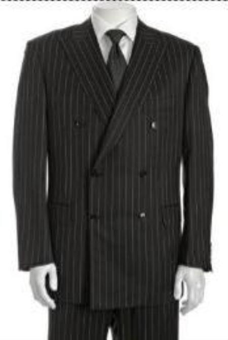 SKU#HD382 Double Breasted Suit Jacket+Pleated Pants Super 140