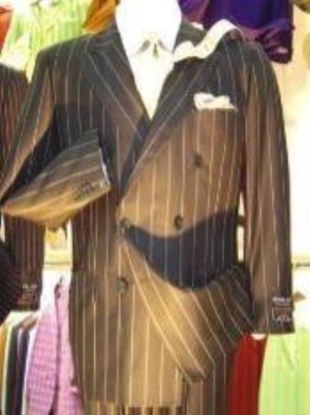 SKU#JX7622 Double Breasted Suit Jacket+Pleated Pants Super 140