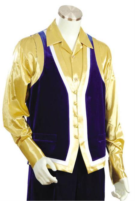 MensUSA.com Mens Fashion 2pc Blue Denim Vest Sets(Exchange only policy) at Sears.com