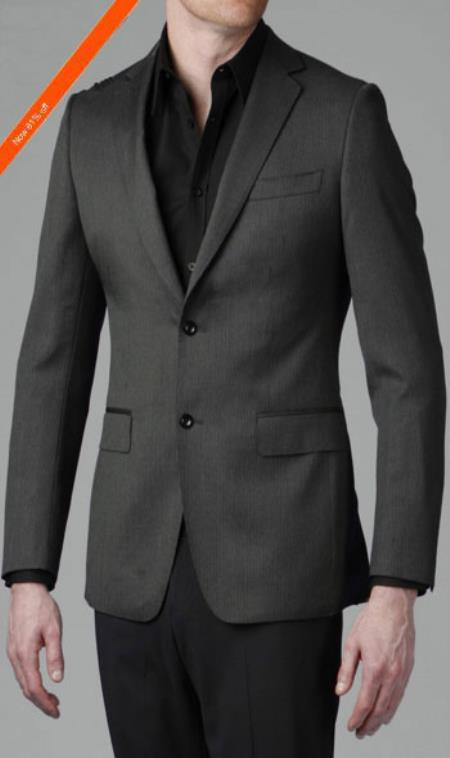 SKU#AG6902 Amazing Gray Multi Stripe 2-Button Slim Cut Suit $359