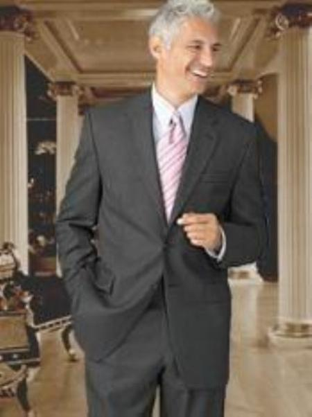 SKU#JZ8922 Mens Grey Slim Fit Suit in 2-Button $139
