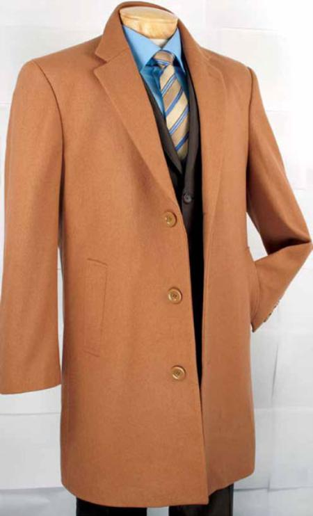 SKU#YC3992 Mens Car Coat Collection in a Soft Cashmere Blend - Vicuna $135