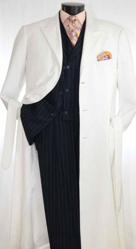 SKU#Coat0040 Mens Full 54 Inch Maxi Length Coat $199