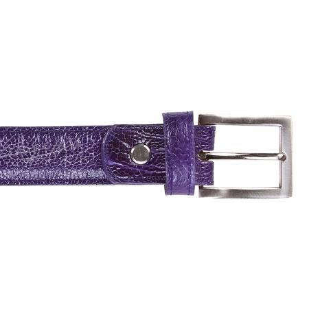 Purple Ostrich Leg Belt