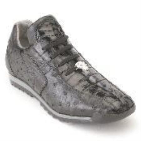 SKU#UJ8877 Black Genuine Croc & Ostrich Sneakers $330