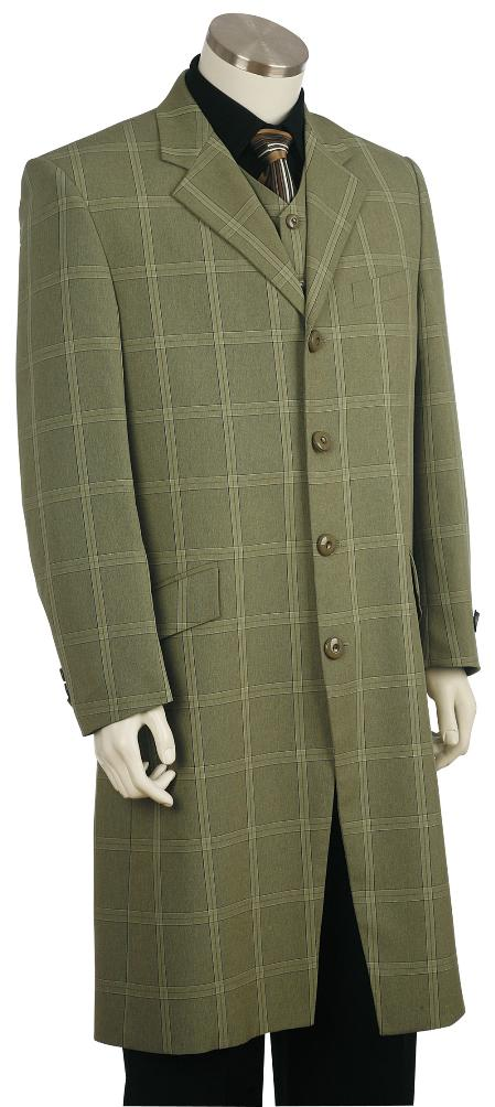 SKU#NG8160 Mens Fashion Zoot Suit Green $189