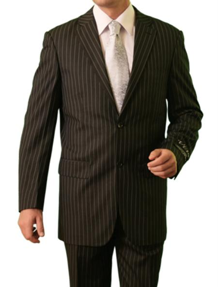 SKU#M082000 Mens 2 Button Front Closure Notch Lapel Suit Grey