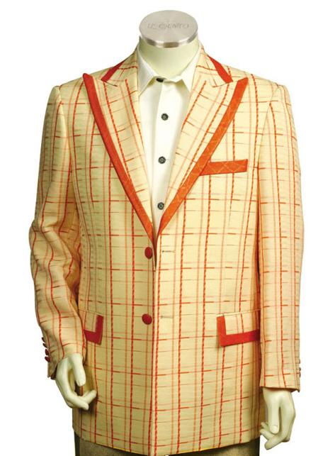 SKU#GT2100 Mens Stylish 2 Button Zoot Suit Yellow $225