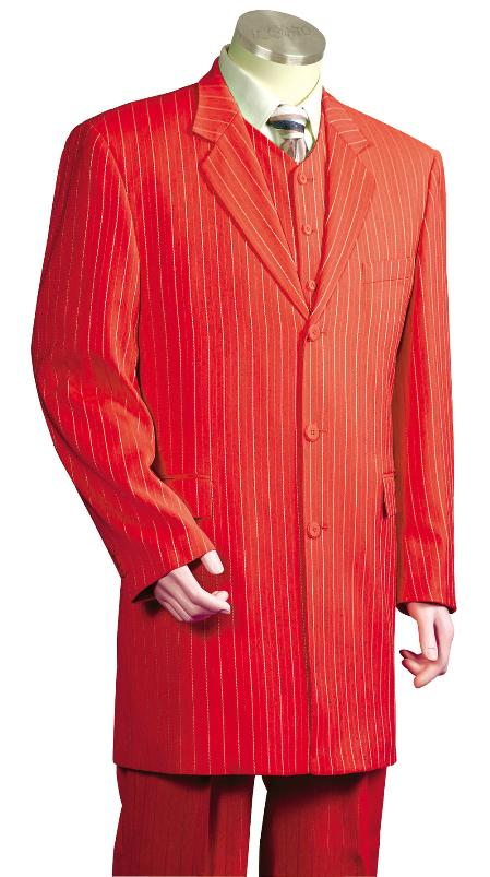 ILCO_8180 Mens Fashionable 3 Piece Zoot Suit Red $189
