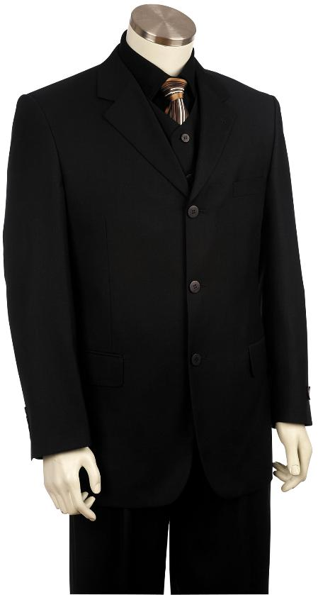 SKU#YV9210 Mens 2 Button Fashionable Zoot Suit Black $175