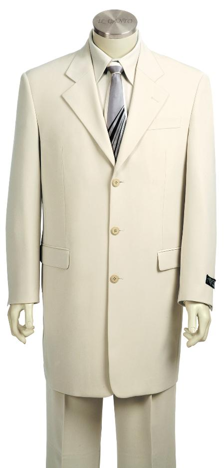 SKU#HX7129 Mens Fashionable 3 Button White Zoot Suit $225