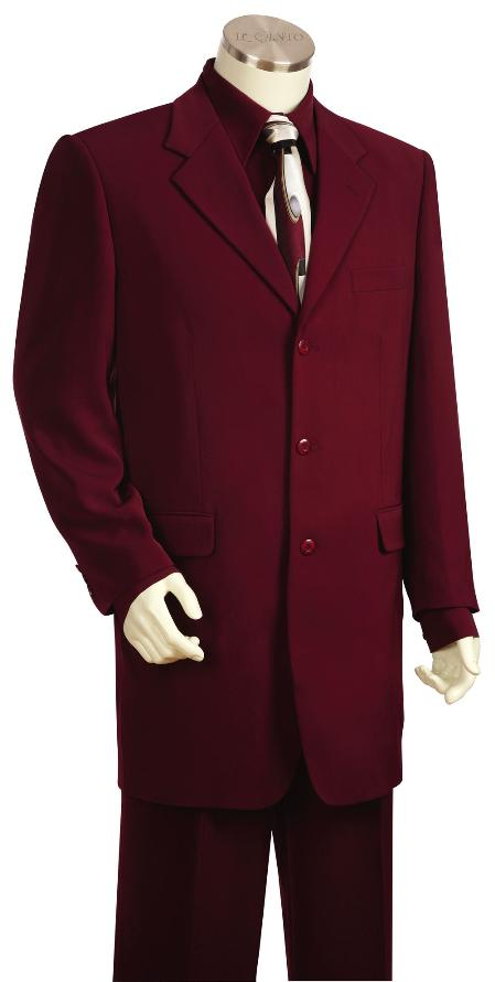 SKU#HC5629 Mens 3 Button Fashionable Zoot Suit Wine $225