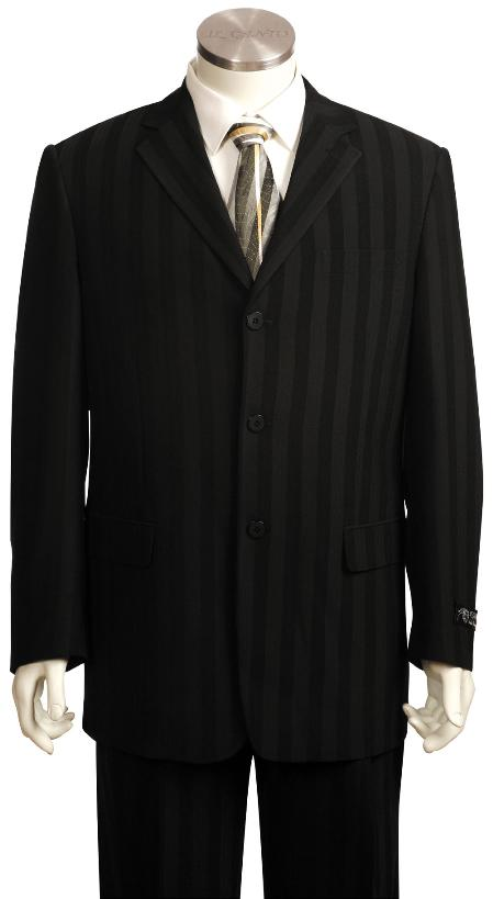 SKU#KA2734 Mens Fashionable Black Zoot Suit $175